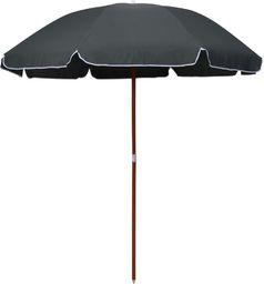 vidaXL Parasol na stalowym słupku, 240 cm, antracytowy