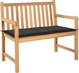 vidaXL Poduszka na ławkę ogrodową, czarna, 100 x 50 x 3 cm