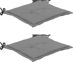 vidaXL Poduszki na krzesła ogrodowe, 2 szt., czarno-szare, 50x50x3 cm