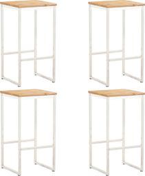 vidaXL Krzesła barowe 2 szt. białe, len w Budujesz.pl