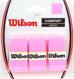Wilson Owijka Wilson Pro Comfort Overgrip różowy 3szt WRZ4014PK