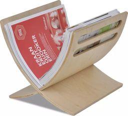 vidaXL VidaXL Drewniany stojak na gazety w naturalnym kolorze