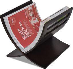 vidaXL VidaXL Drewniany stojak na gazety, brązowy
