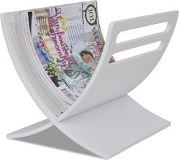 vidaXL VidaXL Drewniany stojak na gazety, biały