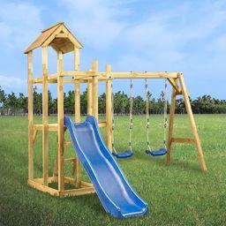 vidaXL VidaXL Plac zabaw ze zjeżdżalnią, huśtawką i drabinką 285x305x226,5 cm