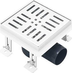 vidaXL Odpływ prysznicowy, kratka, 12 x12 cm, stal nierdzewna