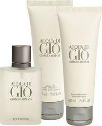 Giorgio Armani Armani Acqua di Gio Pour Homme 100ml woda toaletowa + 75ml balsam po goleniu + 75ml żel pod prysznic