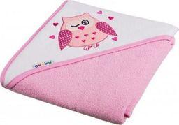 Akuku Kūdikio rankšluostis su gobtuvu Akuku 100x100 cm, rožinis