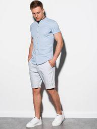 Ombre Koszula męska z krótkim rękawem K543 - niebieska L
