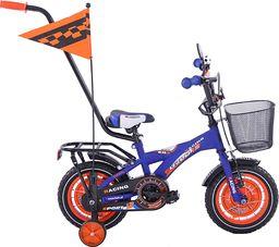 Fuzlu Rower dziecięcy 12 BMX Racing Fuzlu niebiesko-pomarańczowy uniwersalny