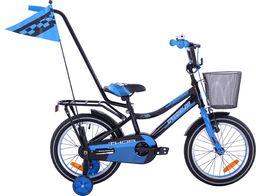 Fuzlu Rower dziecięcy 16 Fuzlu Thor czarno-niebieski uniwersalny