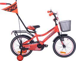 Fuzlu Rower dziecięcy 16 Fuzlu Thor czerwono-czarny uniwersalny