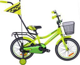 Fuzlu Rower dziecięcy 16 Fuzlu Thor żółto-zielony neonowy uniwersalny