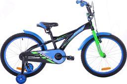 Fuzlu Rower dziecięcy 20 Fuzlu Eco czarno-niebieski uniwersalny