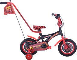 Fuzlu Rower dziecięcy 12 Auta CARS zygzak McQueen czarno-czerwony uniwersalny