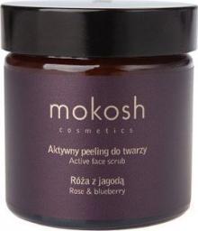 Mokosh Peeling do twarzy Róża z jagodą 60ml