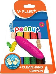 Y-PLUS Kredki świecowe Peanut 12 kolorów (377782)