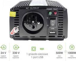 Przetwornica Green Cell Samochodowa Przetwornica Napięcia Green Cell  24V do 230V, 500W/1000W