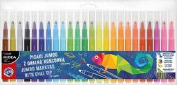 Derform Pisaki z owalną końcówką Jumbo 24 kolory KIDEA