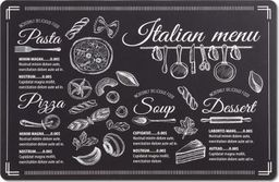Zeller Podkładka Italian Menu, czarna