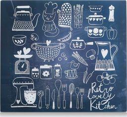 """Zeller Szklana deska/ochrona """"lovely kitchen"""", 50x56x0.8cm"""