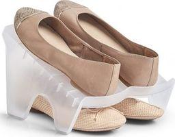 Zeller Stojak na buty plastikowy przezroczysty (14678)