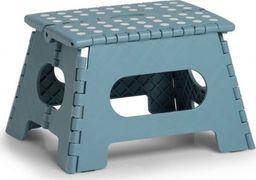 Zeller Składany stołek, plastikowy, niebieski, 35 x 28 x 22 cm