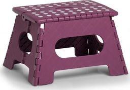 Zeller Składany stołek, plastikowy, fioletowy, 35 x 28 x 22 cm