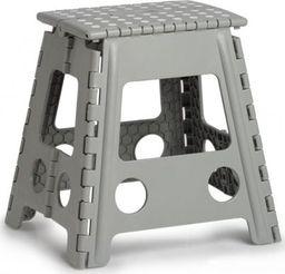 Zeller Składany stołek, plastikowy, szary, 38,5 x 31,5 x 39 cm