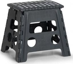Zeller Składany stołek, plastikowy, antracytowy, 37 x 30 x 32 cm