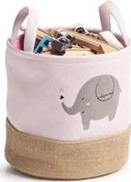 Zeller Kosz do przechowywania Elefant, poliester / juta, różowy