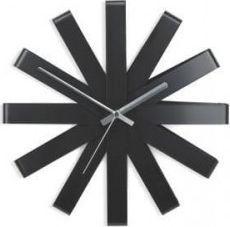 Umbra Zegar ścienny, czarny, RIBBON