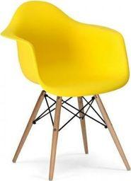 King Home Fotel DAW słoneczny żółty.09 - polipropylen, podstawa bukowa