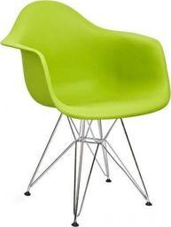 King Home Fotel DAR SILVER soczysta zieleń.13 - polipropylen, podstawa chromowana