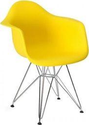 King Home Fotel DAR SILVER słoneczny żółty.09 - polipropylen, podstawa chromowana