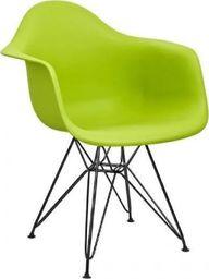 King Home Fotel DAR BLACK soczysta zieleń.13 - polipropylen, podstawa czarna