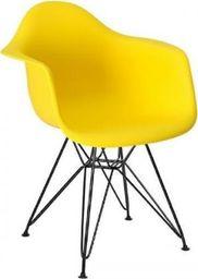 King Home Fotel DAR BLACK słoneczny żółty.09 - polipropylen, podstawa czarna