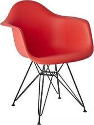 King Home Fotel DAR BLACK krwista czerwień.06 - polipropylen, podstawa czarna