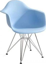 King Home Fotel DAR SILVER jasny niebieski.12 - polipropylen, podstawa chromowana