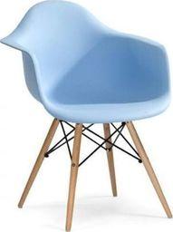 King Home Fotel DAW jasny niebieski.12 - polipropylen, podstawa bukowa
