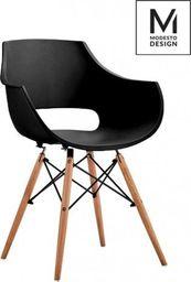 Modesto Design MODESTO fotel FORO czarny - podstawa bukowa