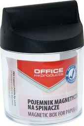 Pojemnik magnetyczny na spinacze Office Products,okrągły, bez spinaczy, transparentny 18184411-99
