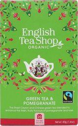 English Tea Sho Herbata zielona z granatem (20x2) BIO 40 g