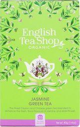 English Tea Sho Herbata zielona jaśminowa (20x2) BIO 40 g