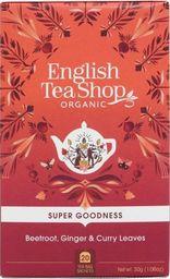 English Tea Sho Herbatka ziołowa z burakiem, marchwią,imbirem,liśćmi curry i pietruszką (20x1,5) BIO 30 g