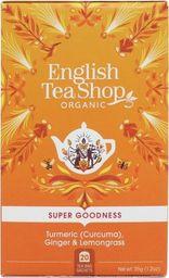 English Tea Sho Herbatka ziołowa z imbirem,kurkumą i trawą cytrynową (20x1,75) BIO 35 g