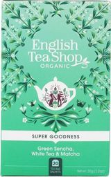 English Tea Sho Herbata zielona Sencha,biała i matcha (20x1,75) BIO 35 g