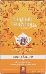 English Tea Sho Herbata zielona z Rooibos,granatem i jagodą (20x1,75) BIO 35 g