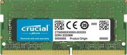 Pamięć do laptopa Crucial DDR4 SODIMM 8GB 2666MHz CL19 (CT8G4SFRA266)