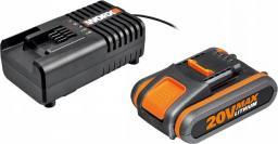 Worx akumulator 20V 2,0Ah + ładowarka 2a (WA3601)